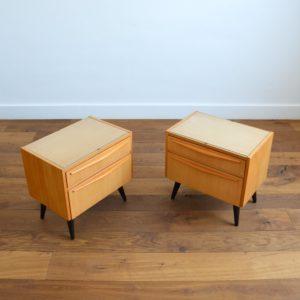 1 paire de chevets 1960 vintage 6