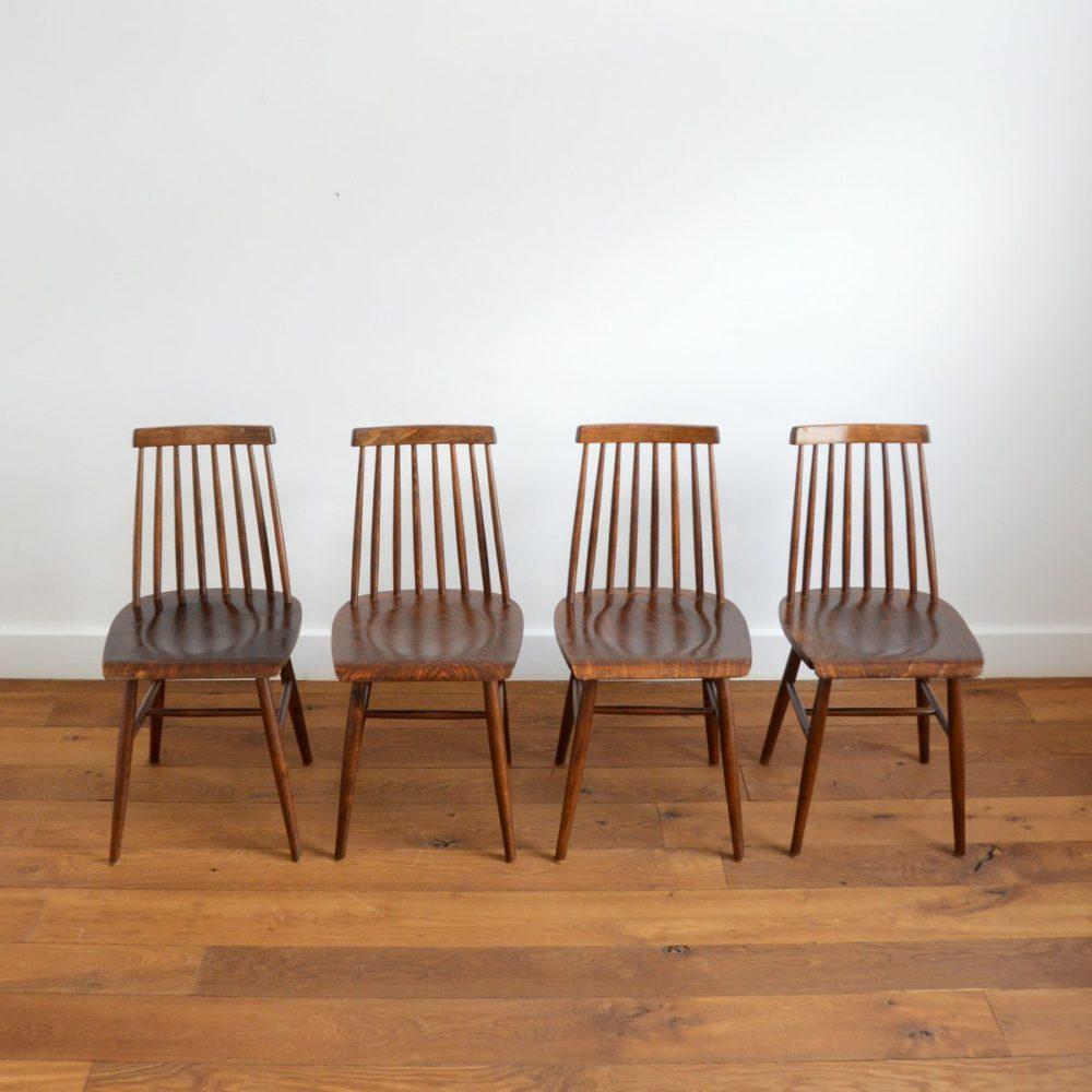 Suite de 4 chaises Stockholm IKEA vintage 1960s