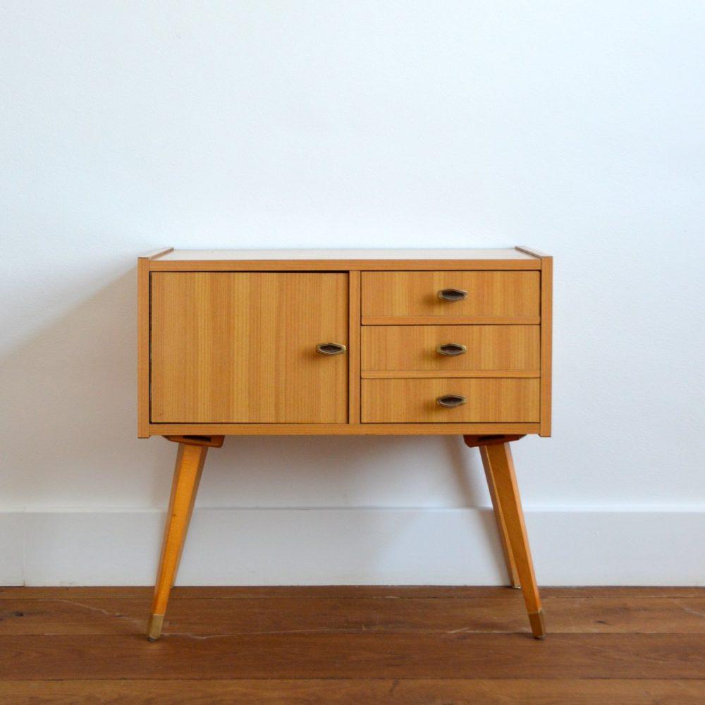 Petite console / Table d'appoint / Chevet vintage 1960s
