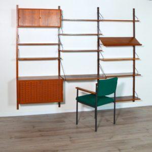 Royal Système d'étagères modulable : wall units Poul Cadovius teck 1