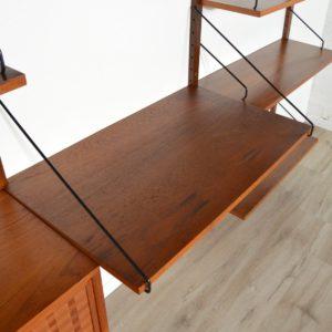 Royal Système d'étagères modulable : wall units Poul Cadovius teck 14