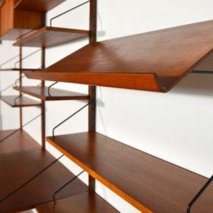 Royal Système d'étagères modulable : wall units Poul Cadovius teck 18