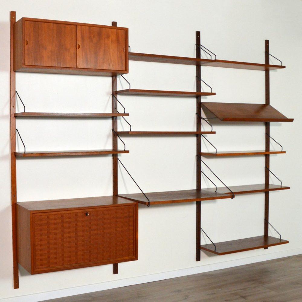 Bibliothèque /Système modulable Royal System par Poul Cadovius Danemark 1960s