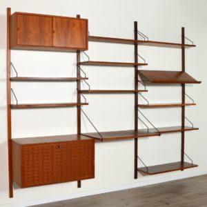 Royal Système d'étagères modulable : wall units Poul Cadovius teck 31
