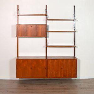 Royal Système d'étagères modulable : wall units Poul Cadovius teck a