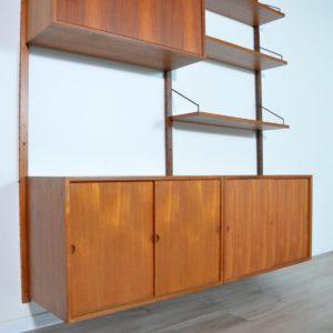 Royal Système d'étagères modulable : wall units Poul Cadovius teck af