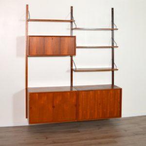 Royal Système d'étagères modulable : wall units Poul Cadovius teck b