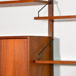 Royal Système d'étagères modulable : wall units Poul Cadovius teck h