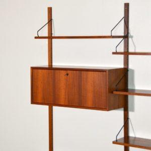 Royal Système d'étagères modulable : wall units Poul Cadovius teck j