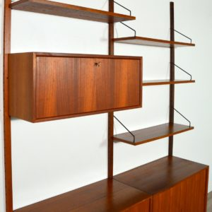 Royal Système d'étagères modulable : wall units Poul Cadovius teck u