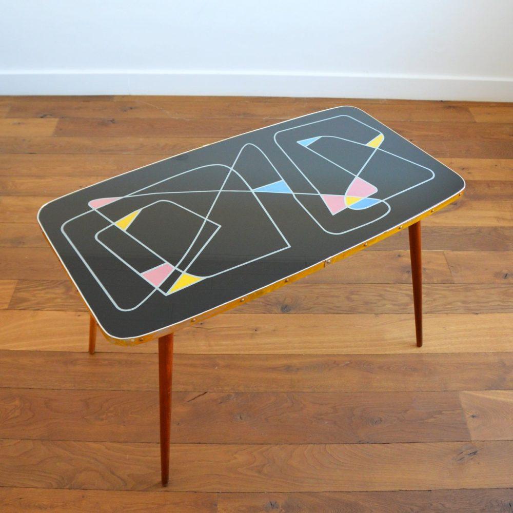 Table basse design années 50 / 60 Rockabilly vintage