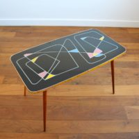 Table basse design années 50 / 60 Rockabilly vintage