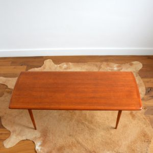 Table basse Suédoise Scandinave teck 1960 vintage 2