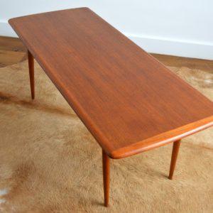 Table basse Suédoise Scandinave teck 1960 vintage 32