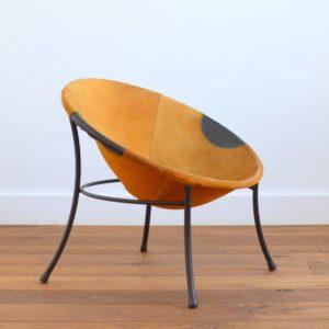 Fauteuil circle : Balloon chair Lusch & Co 1960 vintage b