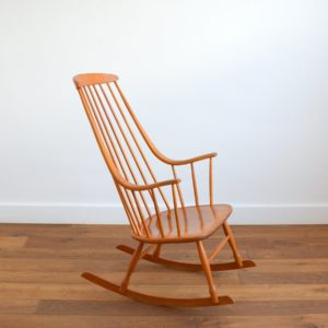 Rocking chair Grandessa, Lena Larsson 1960 vintage 10