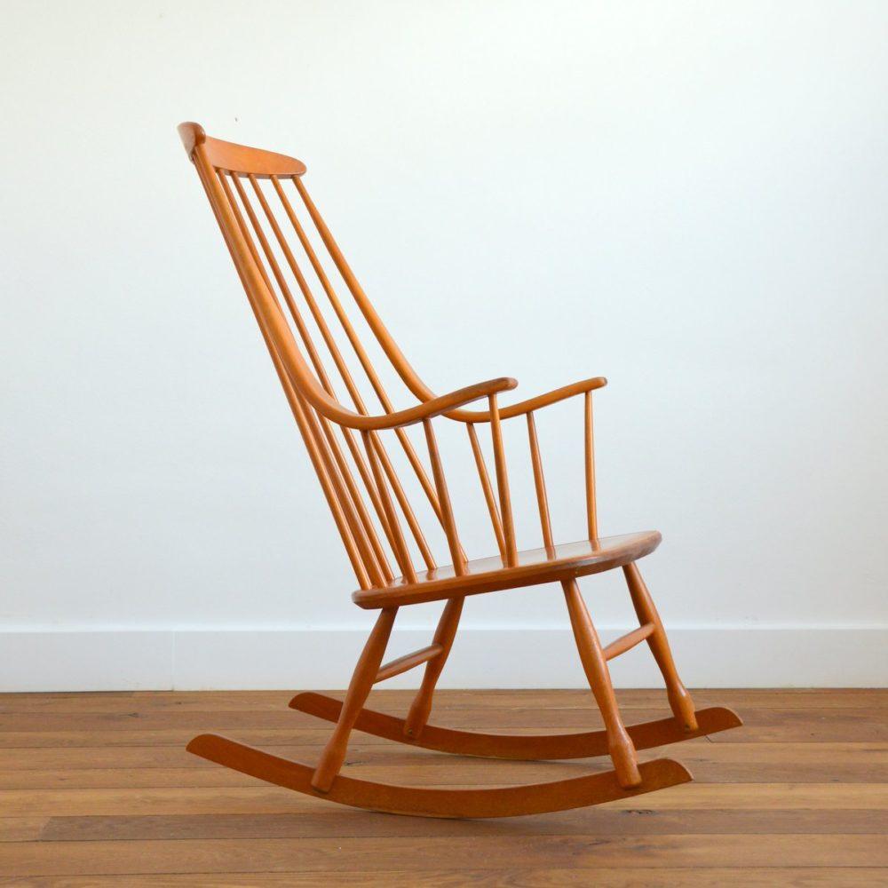 Rocking chair Scandinave «Grandessa», Lena Larsson 1960s