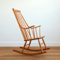Rocking chair Scandinave « Grandessa », Lena Larsson 1960s