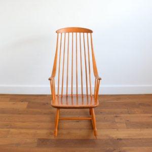Rocking chair Grandessa, Lena Larsson 1960 vintage 9
