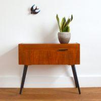 Petite console / Meuble d'appoint / Chevet vintage 1950s