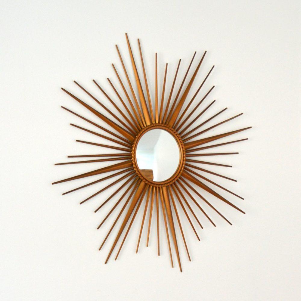 Miroir soleil / Bombé Chaty Vallauris années 50 / 60 vintage