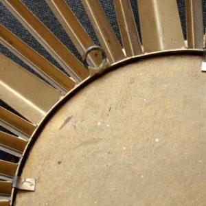Grand miroir soleil : bombé : oeil de sorcière Chaty Vallauris années 50 : 60 vintage 26