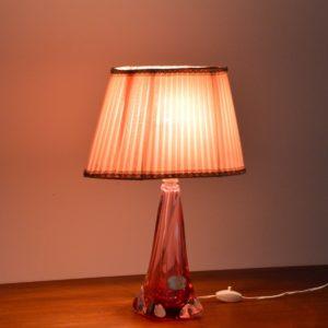 Lampe de table en cristal Val St. Lambert 1960 vintage 46
