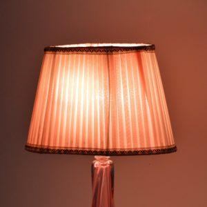 Lampe de table en cristal Val St. Lambert 1960 vintage 51