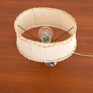 Lampe de table en cristal Val St. Lambert 1960 vintage ad