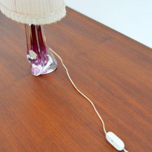 Lampe de table en cristal Val St. Lambert 1960 vintage af