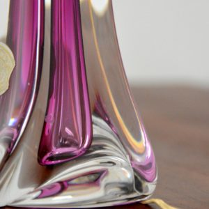 Lampe de table en cristal Val St. Lambert 1960 vintage l