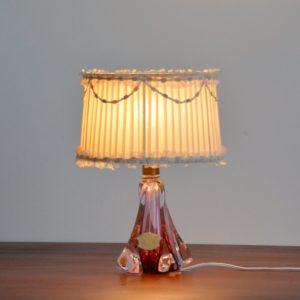 Petite lampe Val Saint Lambert 1960 vintage 27