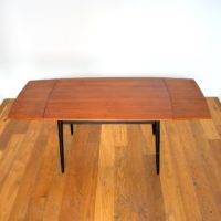Table à manger avec rallonges scandinave teck 1960s