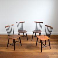 Suite de 4 chaises Pastoe vintage 1950s