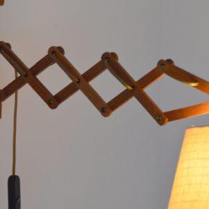 Lampe : Applique accordéon scandinave teck 1960 vintage 15