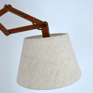 Lampe : Applique accordéon scandinave teck 1960 vintage 7