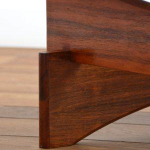 Table basse scandinave palissandre et verre 1970 vintage 5