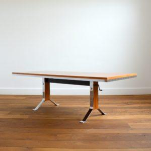 Table transformable : Bureau scandinave 1970 vintage 11