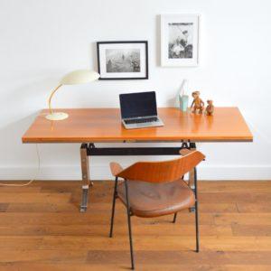 Table transformable : Bureau scandinave 1970 vintage 18