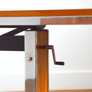 Table transformable : Bureau scandinave 1970 vintage 19