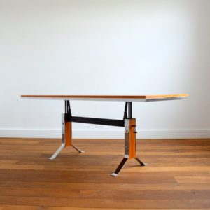 Table transformable : Bureau scandinave 1970 vintage 30