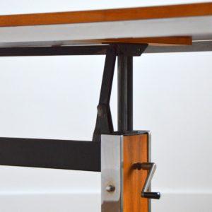 Table transformable : Bureau scandinave 1970 vintage 39