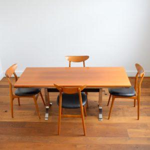 Table transformable : Bureau scandinave 1970 vintage 52