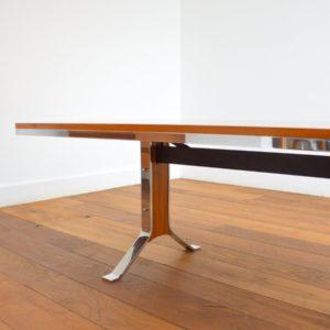 Table transformable : Bureau scandinave 1970 vintage 7