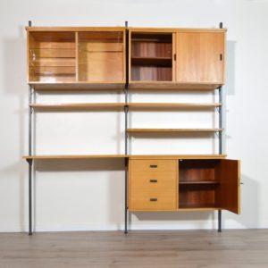 Bibliothèque modulable Suédoise : Bureau Olof Pira scandinave vintage 32