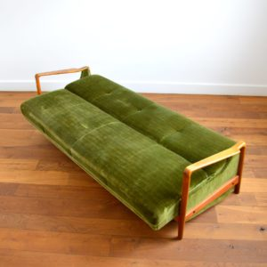 Canapé : Daybed scandinave années 50 – 60 vintage 2