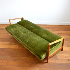 Canapé : Daybed scandinave années 50 – 60 vintage 2