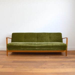 Canapé : Daybed scandinave années 50 – 60 vintage 33