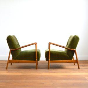 Paire de fauteuils années 50 : 60 vintage 6