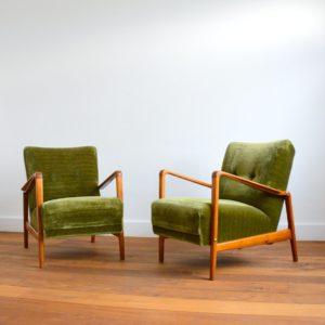 Paire de fauteuils années 50 : 60 vintage 7